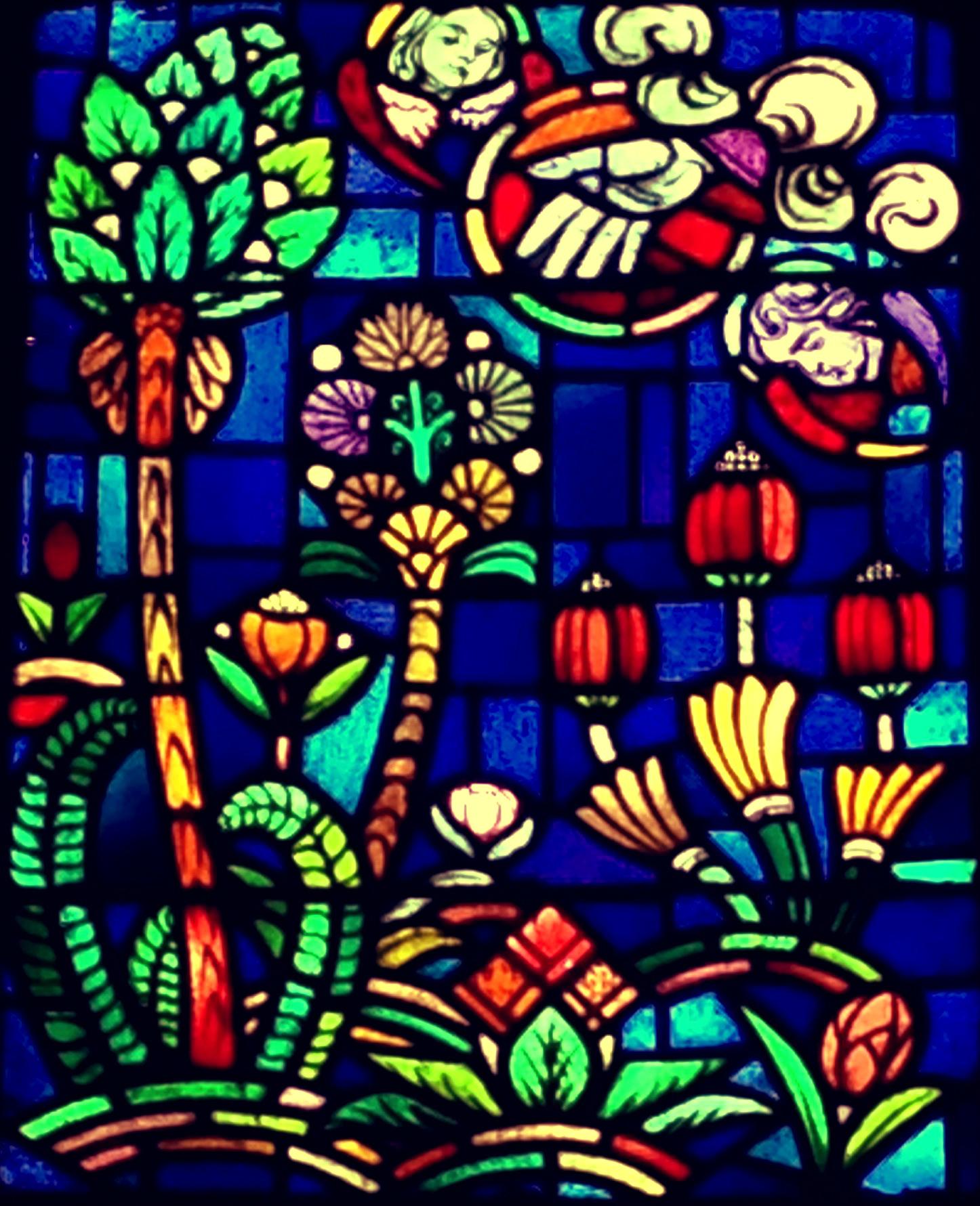 Illustratie Kerk en Natuur of Galery